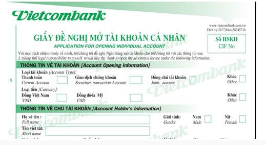 cách mở thẻ atm vietcombank